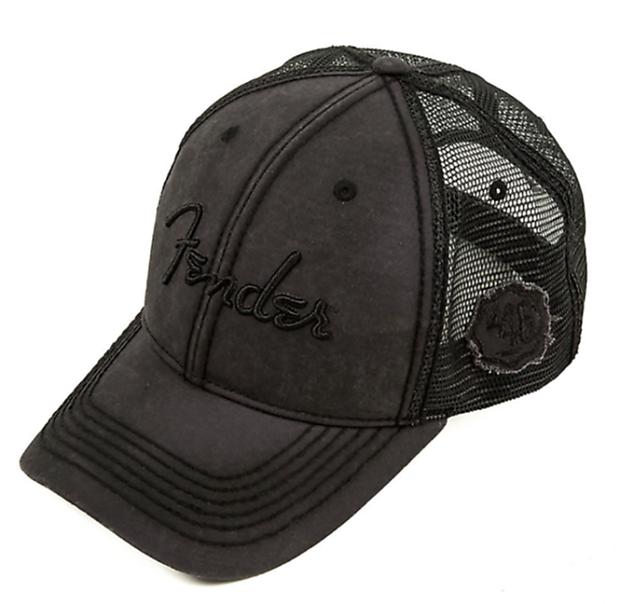 7b567d2ae2d Fender Blackout Trucker Hat Adjustable Cap Black One Size