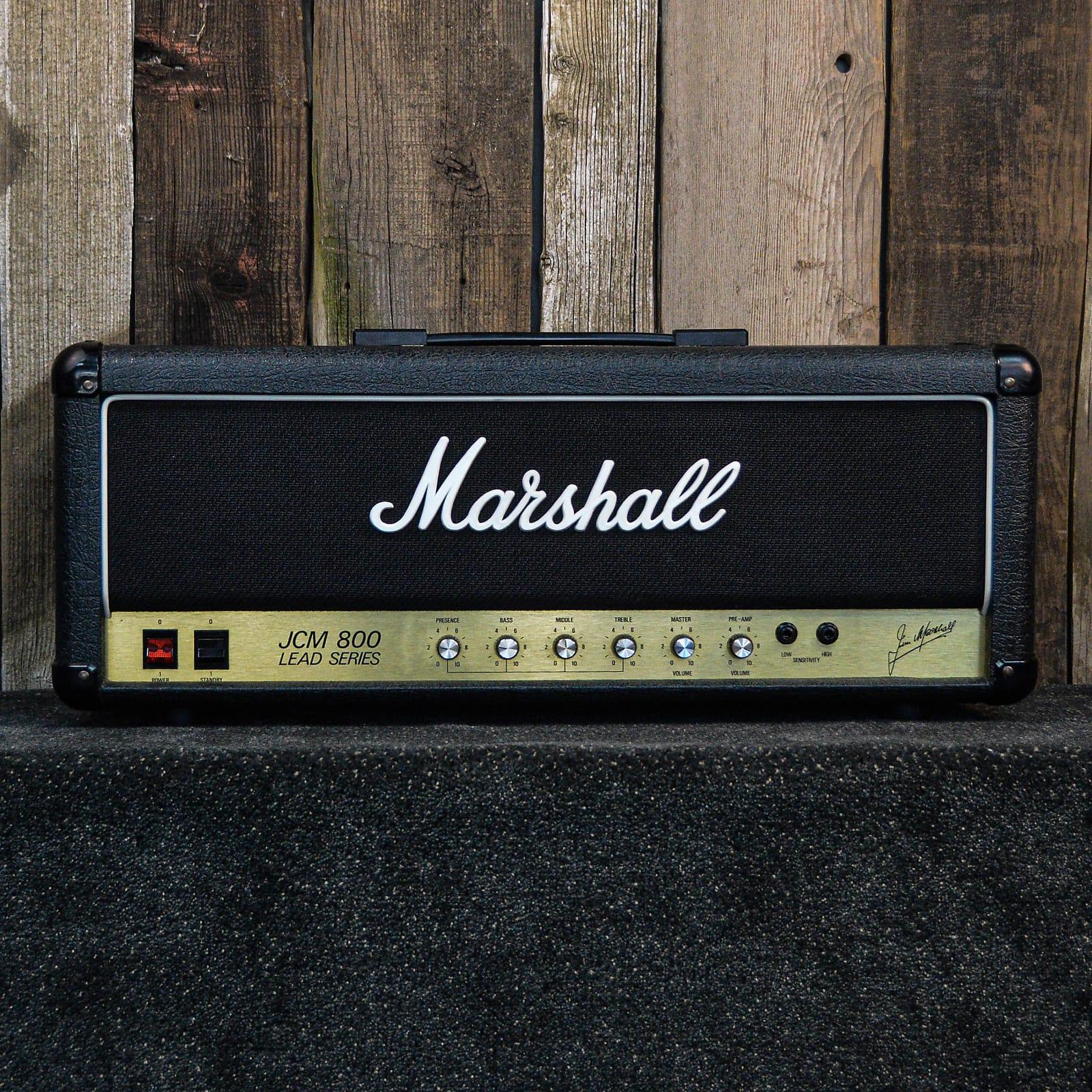 Marshall JCM 800 Lead Series Model 2204 50-Watt Master Volume Head 1986 Black