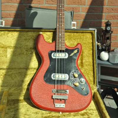 Klira Triumphator - FREE EU shipping / 1960s Red Vinyl Vintage Bass - Made in Germany for sale