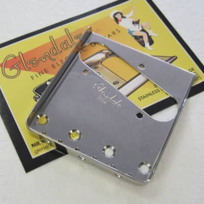 Glendale Single Cut Stainless Steel Telecaster Bridge Plate for sale