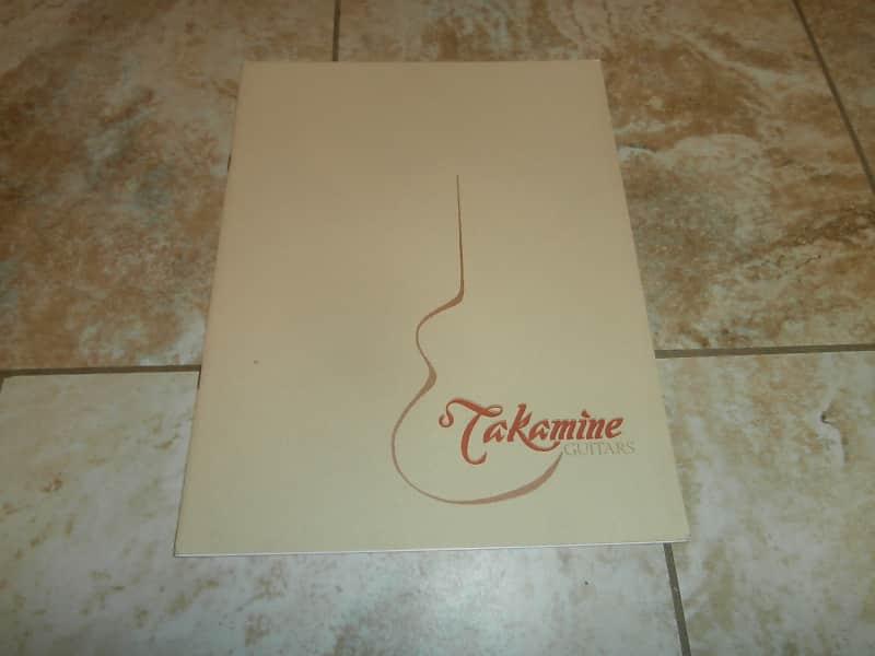 vintage 1982 takamine guitar catalog rare original case reverb. Black Bedroom Furniture Sets. Home Design Ideas