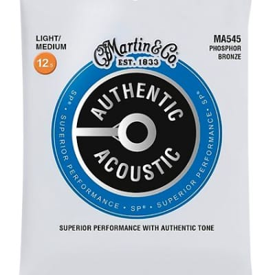 Martin MA545 SP Phosphor Bronze Light/Medium Authentic Acoustic Guitar Strings