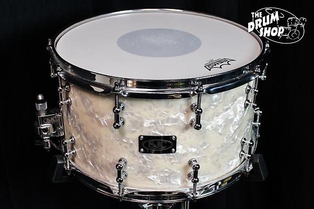 used sjc vintage white marine pearl 14 x 8 snare drum reverb. Black Bedroom Furniture Sets. Home Design Ideas