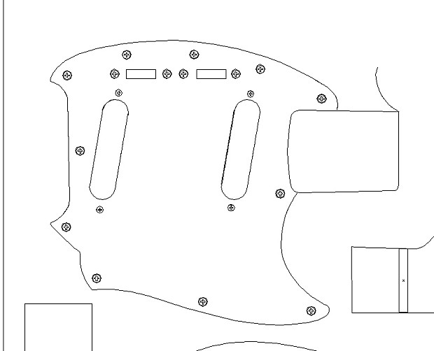 fender  u0026 39 64 mustang routing template  vinyl guitar making