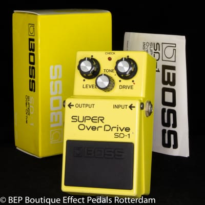 Boss SD-1 SUPER Overdrive 1984 s/n 493100 Japan as used by The Edge of U2
