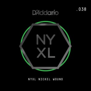 D'Addario NYXL Nickel Wound Electric Guitar Single String .038