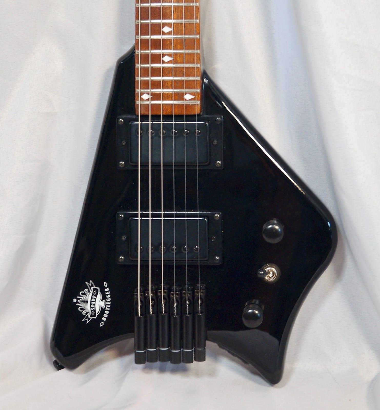 Bootlegger Spade  Headless Travel Pro Guitar With Custom OHSC Case