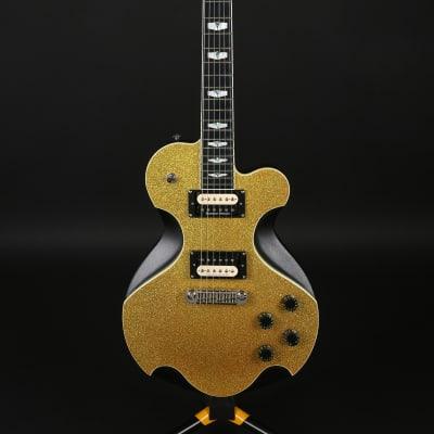 Kraken Janus Supreme Gold Top Unique Design Electric Guitar Sparkle Single Cut LP Style for sale