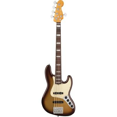 Fender American Ultra Jazz Bass V Mocha Burst RW with Case for sale