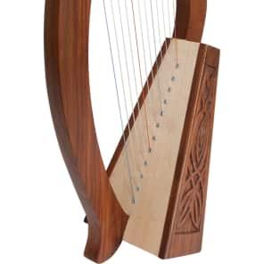 "Roosebeck HPBY-K 21"" 12-String Baby Harp w/ Knotwork"