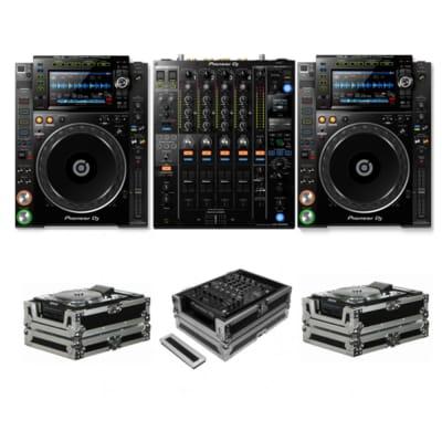PIONEER DJ CDJ-2000 NXS2 + DJM-900 NXS2 + FZCDJ & FZ12MIXXD CASES BUNDLE DEAL (Open Box)