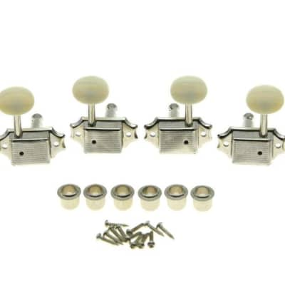 *NEW Vintage Style 3x3 TUNERS for Guitar Gibson Les Paul SG Nickel + Ivory