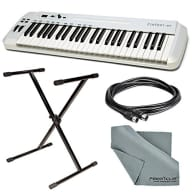 Samson Carbon 49 USB/MIDI Keyboard Controller with Stand + Cable + FiberTique Cloth