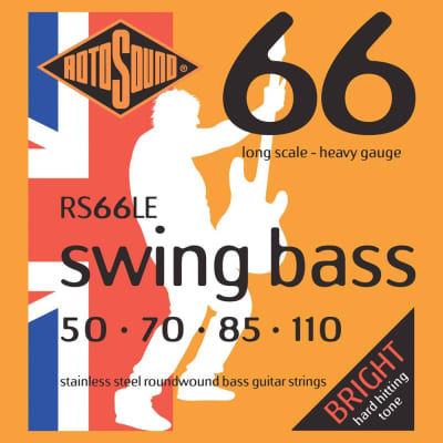 Rotosound RS66LE Swing Bass 66 Stainless Steel Electric Bass Strings (50-110)