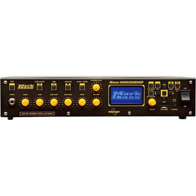 Markbass MBH110017 Bass Multiamp Mono 500-Watt Solid State Bass Head with Effects