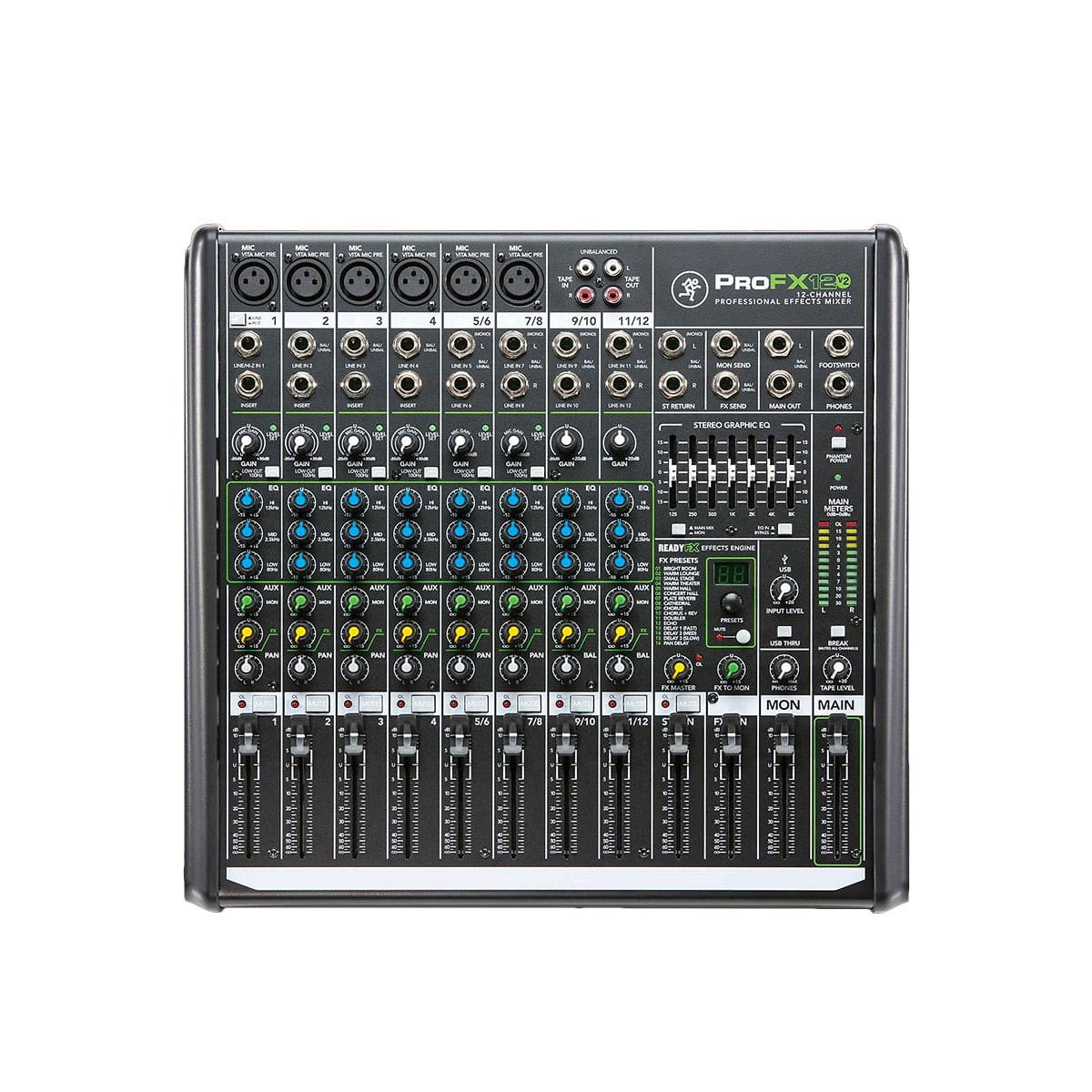 mackie profx12v2 compact effects mixer mackie direct reverb. Black Bedroom Furniture Sets. Home Design Ideas