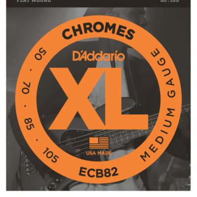 D'Addario ECB82 Chromes Flat Wound Medium Bass Strings 50-105