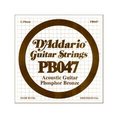 D'Addario Phosphor Bronze Acoustic Single String PB047