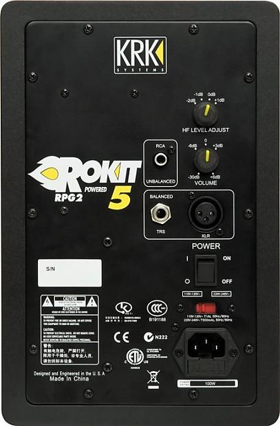 krk rp5g2 rokit 5 g2 powered studio monitor pair reverb. Black Bedroom Furniture Sets. Home Design Ideas