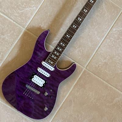 Xaviere XV2259 Stratocaster Electric Guitar  Purple Burst Near Mint for sale