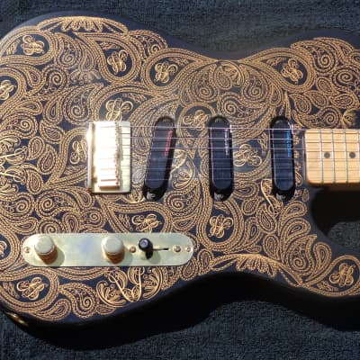 Fender  James Burton Telecaster Gold Paisely 1994 Gold Paisely for sale