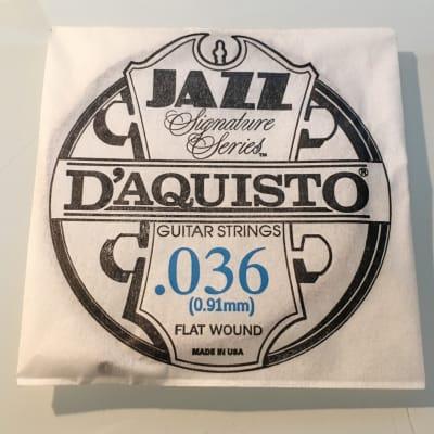 "D'Aquisto RARE Jazz Signature Series String .036"" Flatwound"