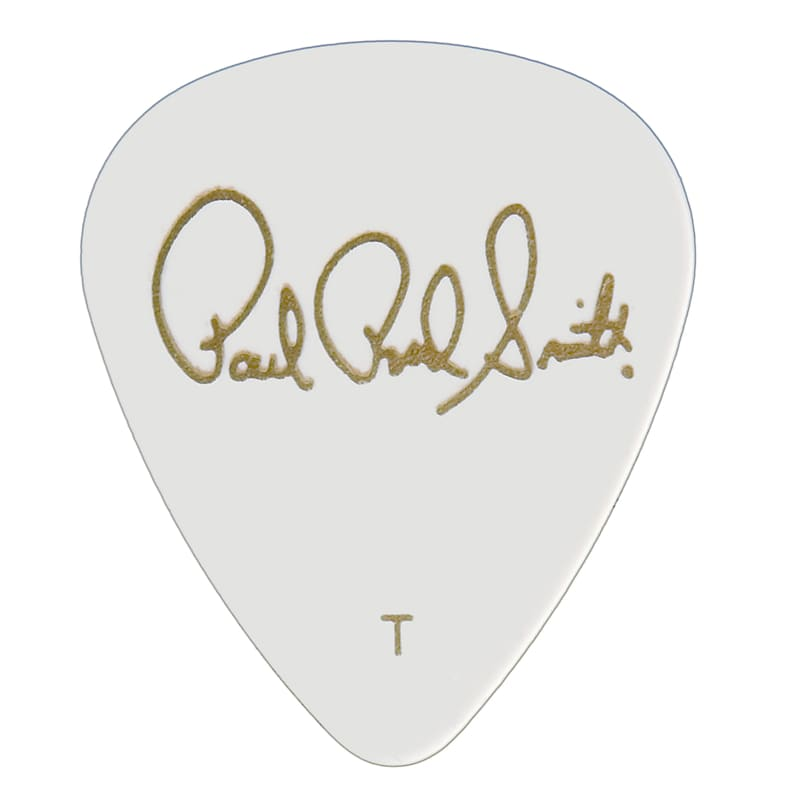 Paul Reed Smith PRS Solid White Celluloid Guitar Picks (12 Pack) – Thin