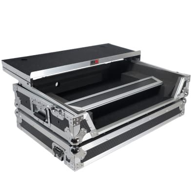 PROX ATA Road Case for Pioneer DDJ-FLX6 W/ 1U Rackspace, Glide Sliding Laptop Shelf
