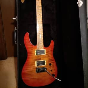 Brian Moore Custom Guitars MC1 2000 Transparent Red Burst, flame maple for sale