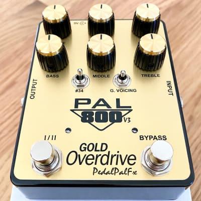 PedalPalFx PAL800-V3 GOLD Overdrive   Watch Video   LA Shipping   Pal 800 Version 3
