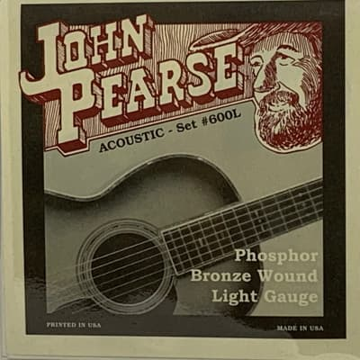 John Pearse Phosphor Bronze Acoustic Guitar Strings (3 sets) - 600L .012-.016-.024W-.032W-.042W-.053W for sale
