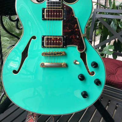 D'Angelico Seafoam Green EX-DC with Lollar P-90's