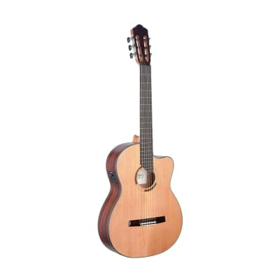 Angel Lopez Eresma series, E/A Classical guitar cutaway w/ solid cedar top for sale