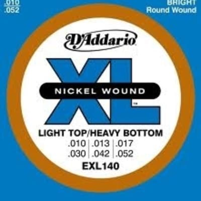 D'Addario EXL140 Electric Guitar Strings - Light Top/Heavy Bottom