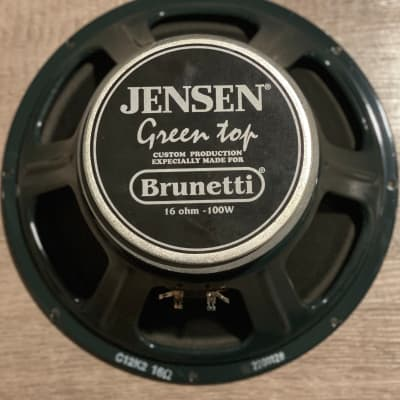 Jensen Green Top For Brunetti Amps