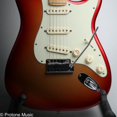 2015 Fender American Deluxe Stratocaster Sunset Metallic & Fender Hard Case for sale