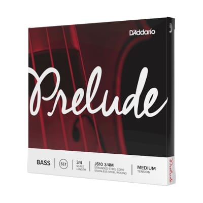 NEW D'Addario Prelude Bass String Set - 3/4 - Medium Tension