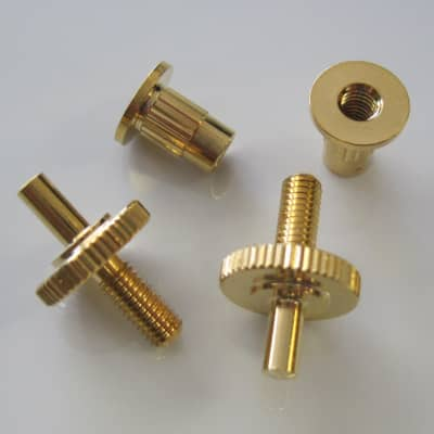 Gibson USA Gold Nashville Bridge Posts and Anchors for sale