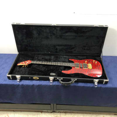 Brian Moore Custom Shop M1 M-1 Red Flame Maple Electric Guitar with Original Case Piezo Pickup for sale