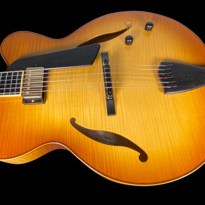 2011 Sadowsky Jim Hall Archtop Hollowbody with Curly Maple Top & Back ~ Caramel Burst for sale