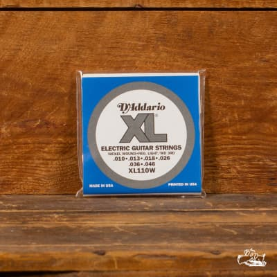 D'Addario EXL110W Electric Guitar Strings - .010-.046 Wound 3rd (New Old Stock - NOS)