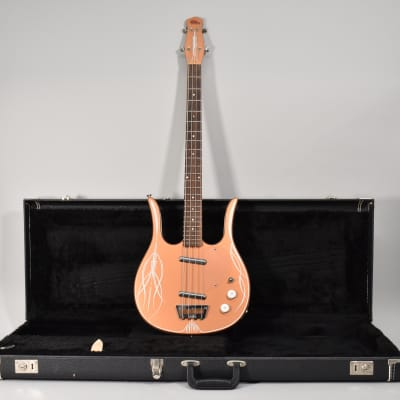 Early 90s Jerry Jones Longhorn Bass Copper Finish Pinstriped Electric Guitar w/HSC for sale