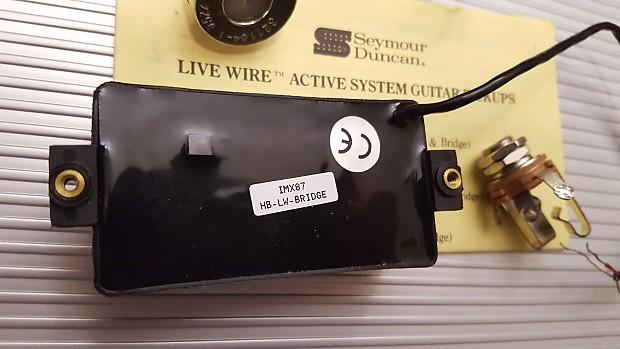 Seymour Duncan Livewire Metal Active Humbucker Bridge Pickup w Parts on