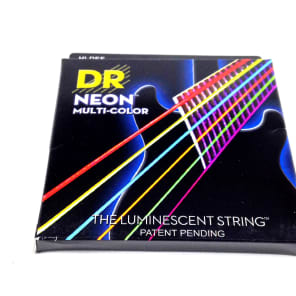 DR NMCE-9/46 NEON Multi-Colored Electric Guitar Strings - Light/Heavy (9-46)