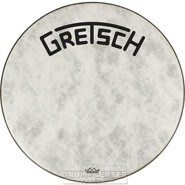 gretsch bass drum head fiberskyn 20 with broadkaster logo reverb. Black Bedroom Furniture Sets. Home Design Ideas