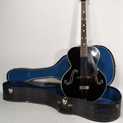 1936 Paramount Model B Black Finish Vintage Archtop Guitar Paw Paw Hopkins for sale