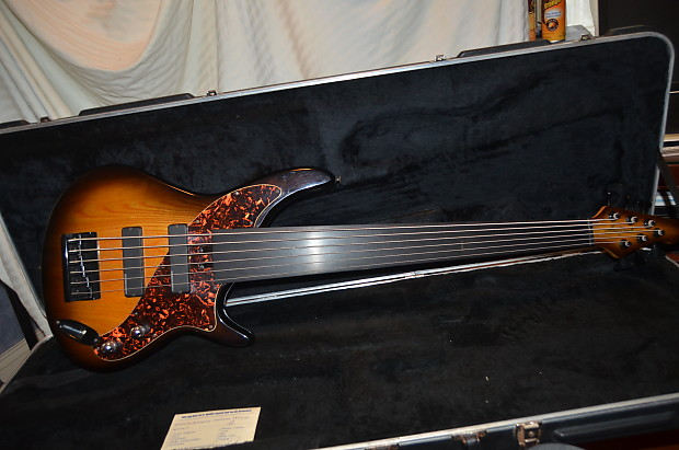 69217bca1f Description; Shop Policies. a aria pro 2 avante series 5 string fretless  active bass guitar ...