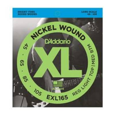 D'Addario EXL165 bass strings, long scale, .045-.105