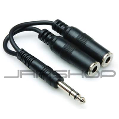 """Hosa YPP-118 6"""" TRS to 2 Female TRS Y Cable"""