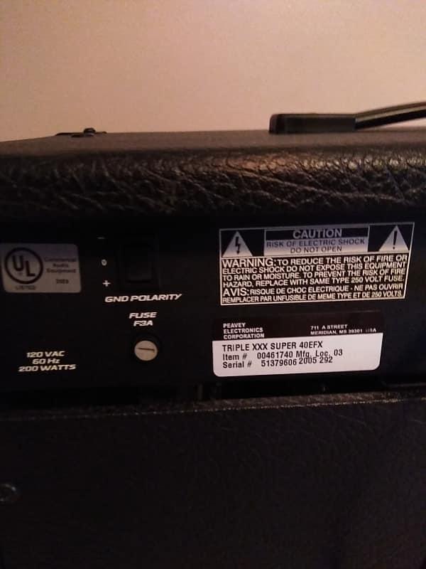Peavey Triple XXX 40/EFX Ultra Tube Series 40-Watt 1x12 | Reverb